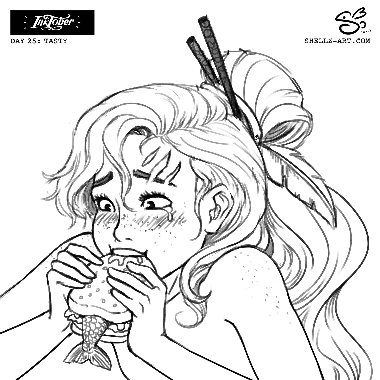 Inktober 2019 | Day 25: Tasty