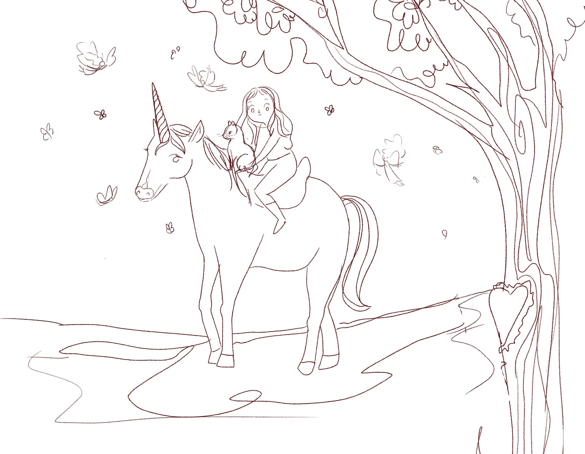Character and composition sketch provided by client  (Credit: Elettra Cudignotto)