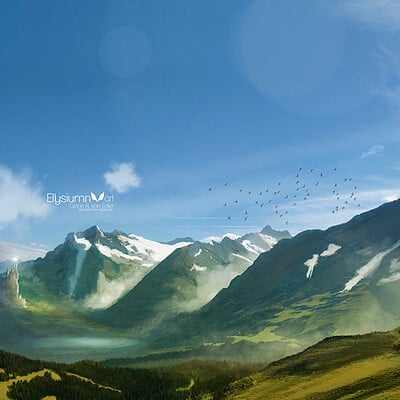 Gene raz von edler surrounded by mountains by ellysiumn as version