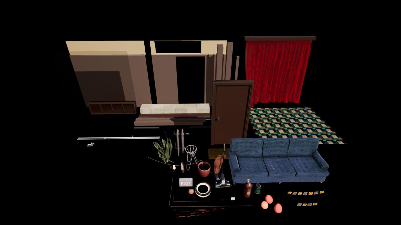 All the items used in the project