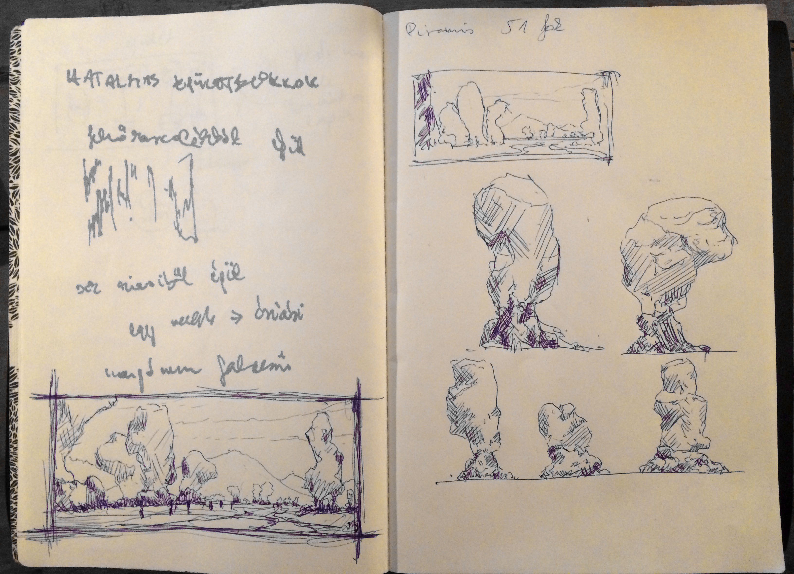 composition sketches and shape exploration