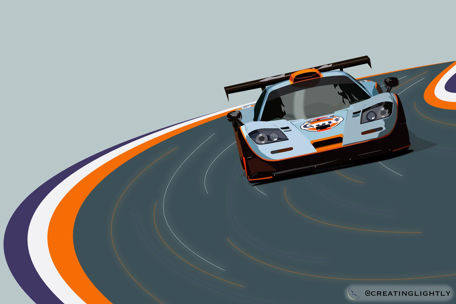 McLaren F1 GTR - Gulf Livery
