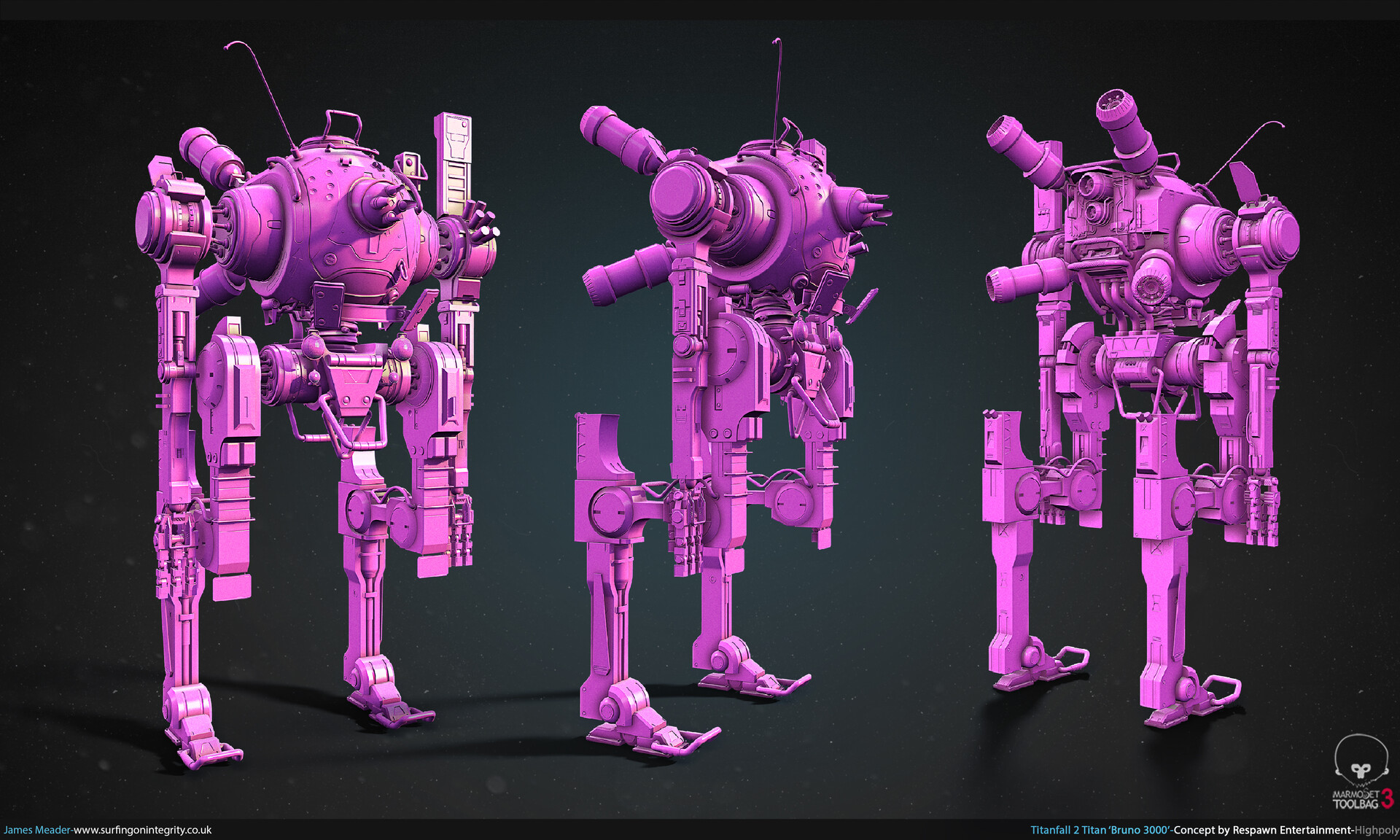 James meader titanfall 2 titan bruno 3000 final highpoly