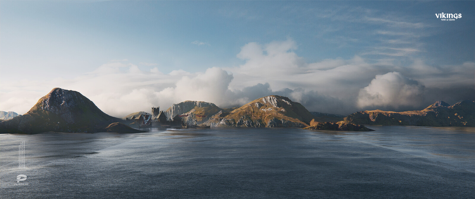 Another matte painting and its layers breakdown.