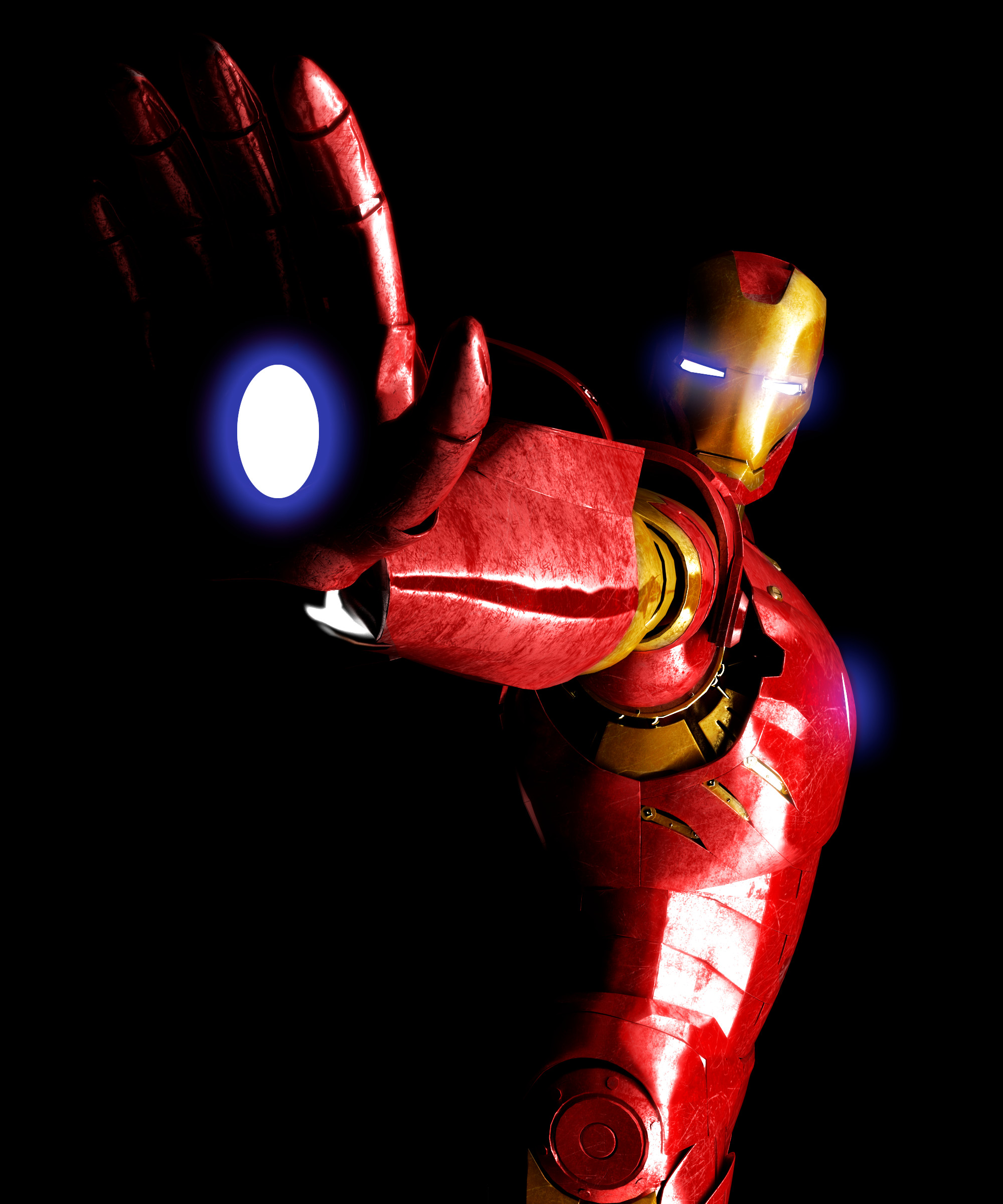 Ironman 3d model pose