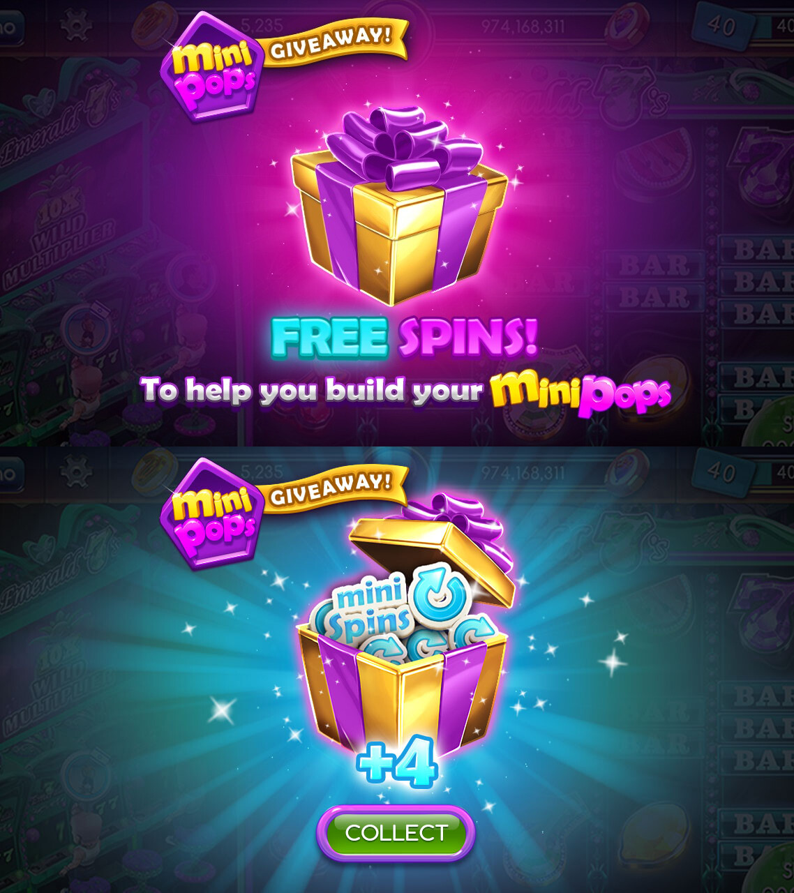 Free spins popup