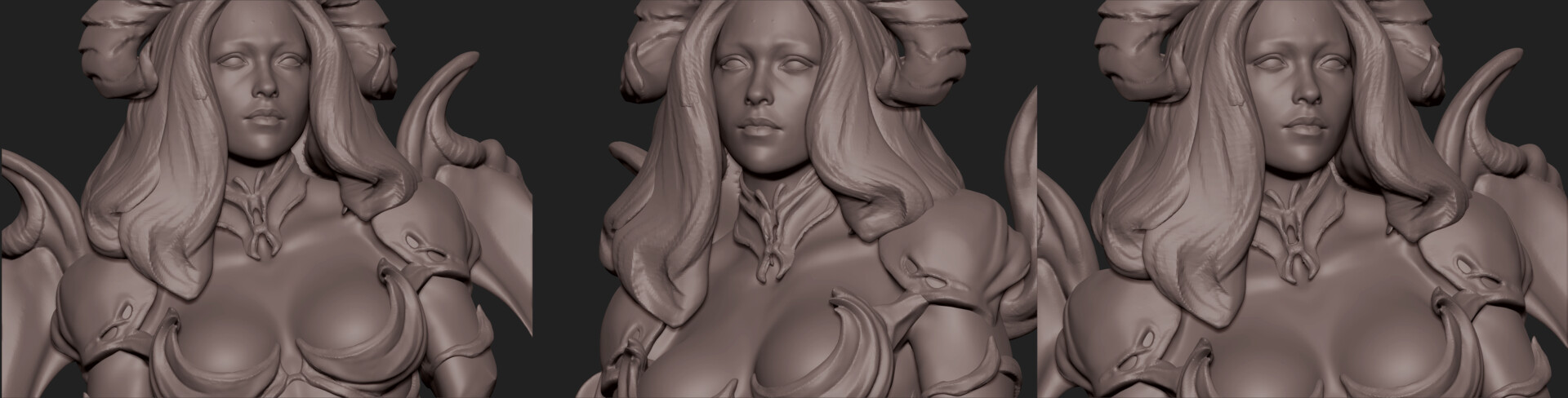Daniel s rodrigues demon lady sculpt 02