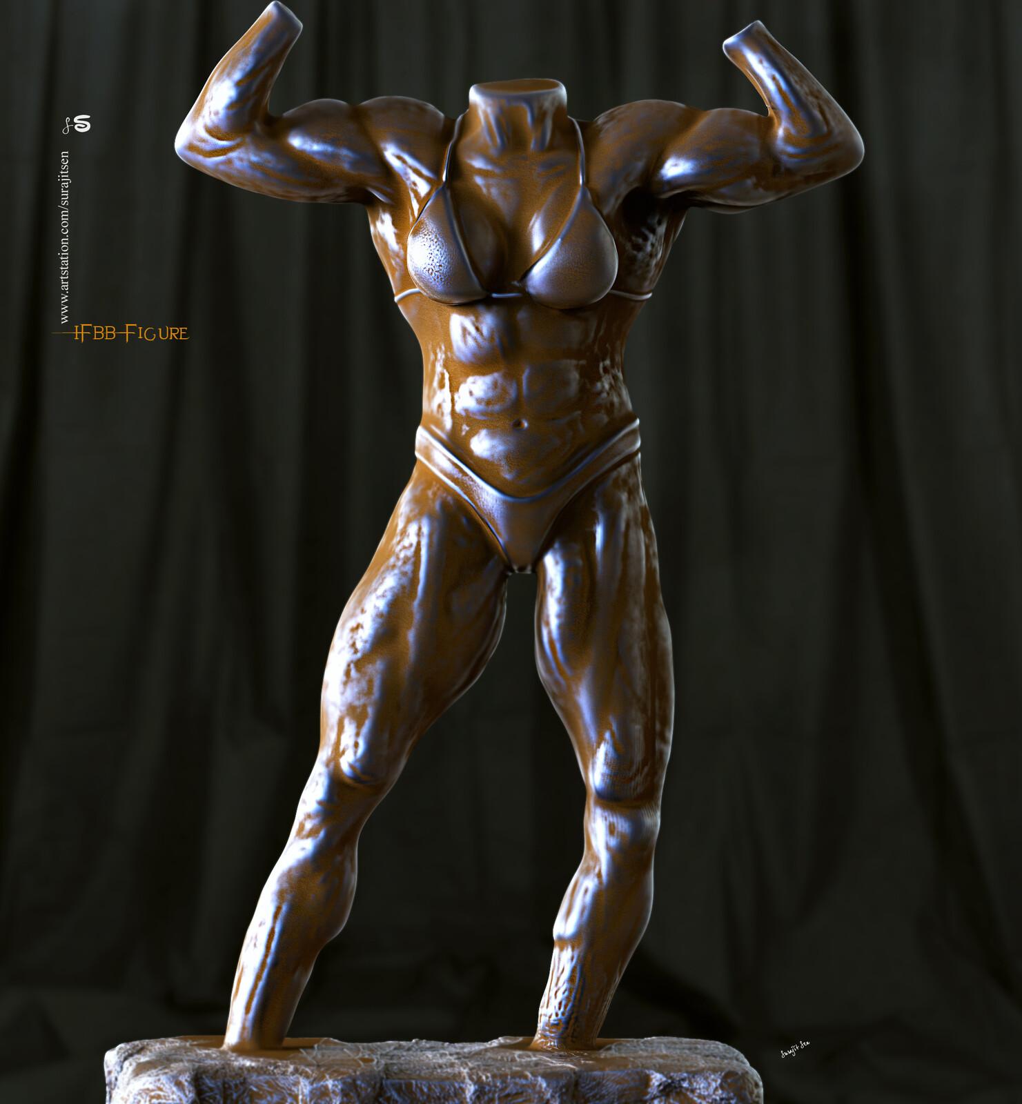 One of my study----IFBB figure digital Sculpting. Study reference-IFBB Figure of #MargitaZamolova