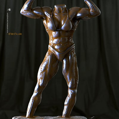 Surajit sen ifbb figure digital sculpture by surajit sen oct2019