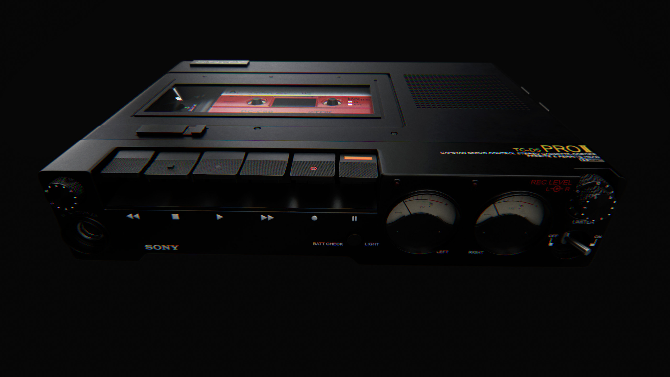 Of thanks as well is the owner of the cassette tape, acquired freely from: https://www.cgtrader.com/items/487726/download-page Reunwrapped with 3ds Max and retextured with Substance Painter 2.