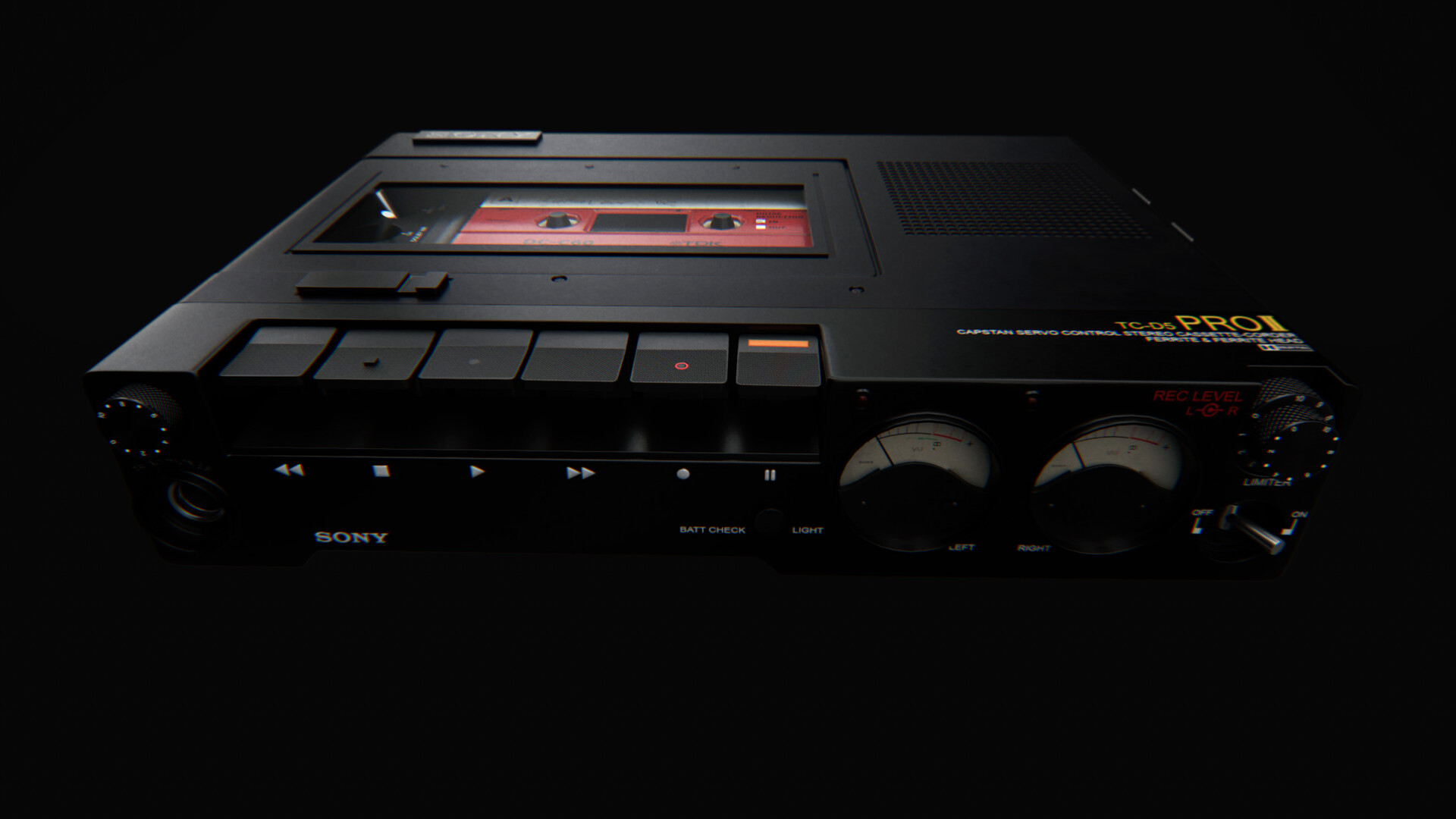Of thanks as well is the owner of the cassette tape, acquired freely from: https://www.cgtrader.com/items/487726/download-page