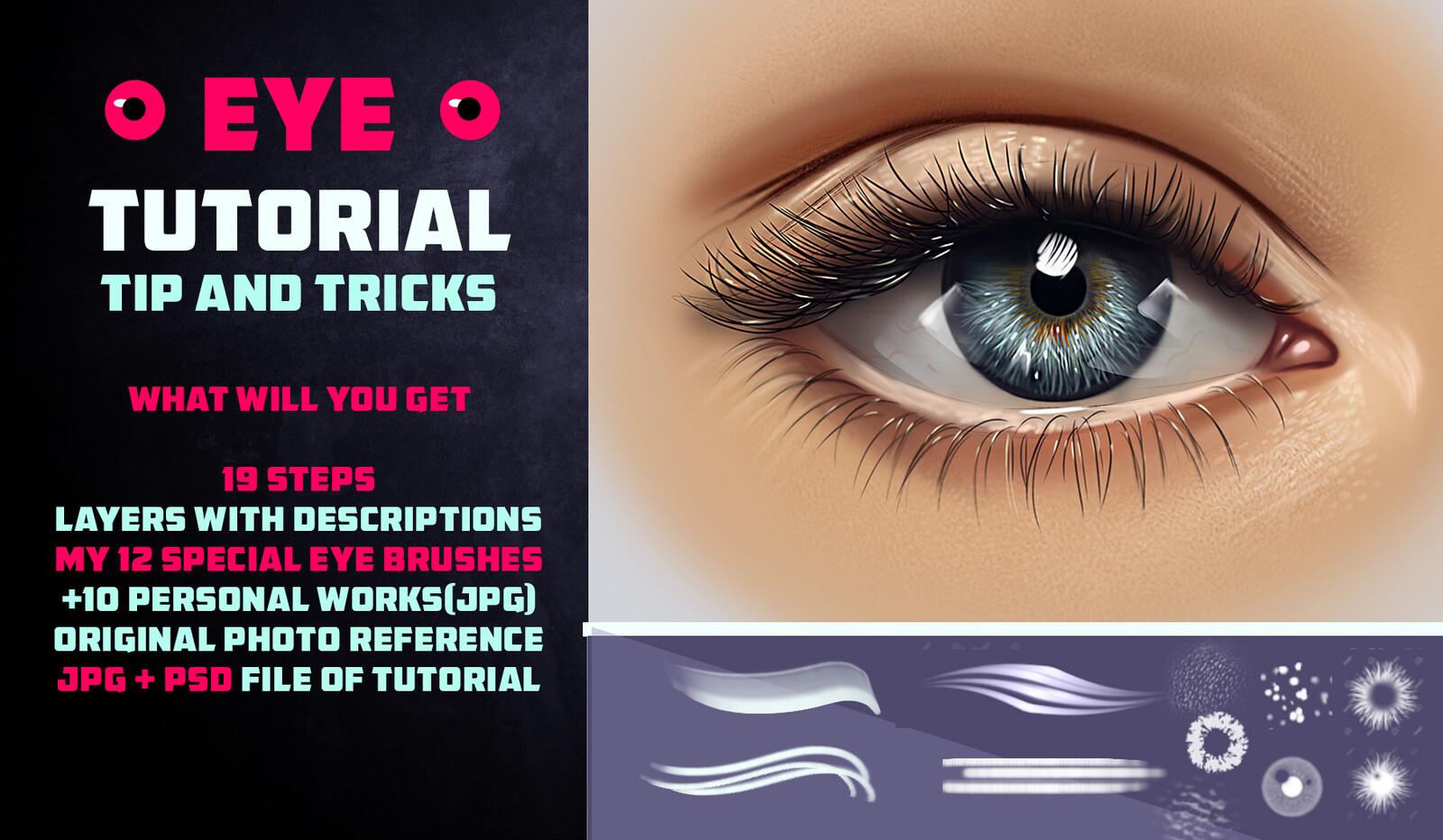 Artstation Marketplace Link: https://www.artstation.com/vurdem/store/j35r/eye-tutorial-2-12-brushes-tip-and-tricks-photoshop