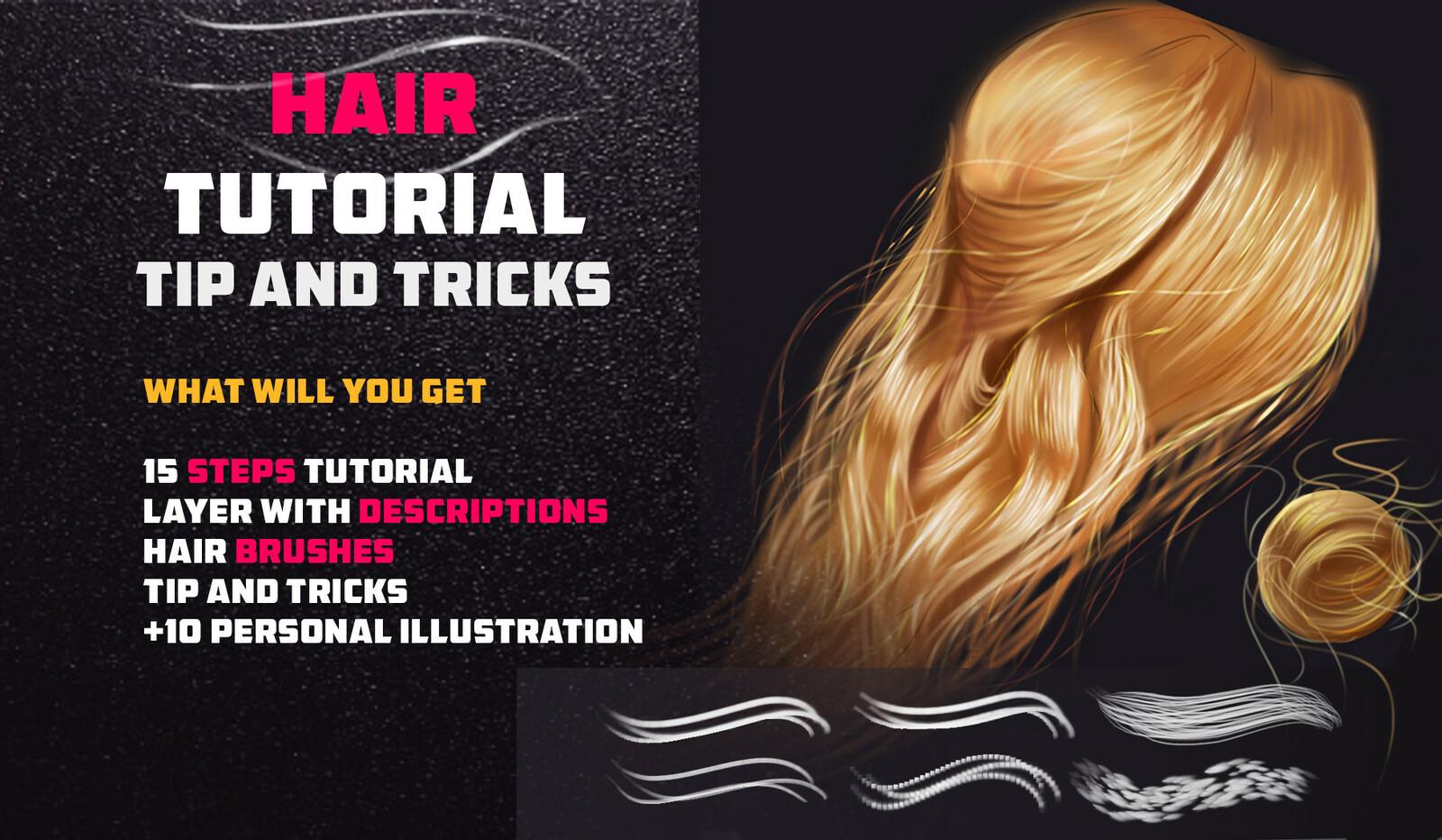 Artstation Marketplace Link: https://www.artstation.com/vurdem/store/NKad/hair-tutorial-tip-and-tricks-hair-brushes