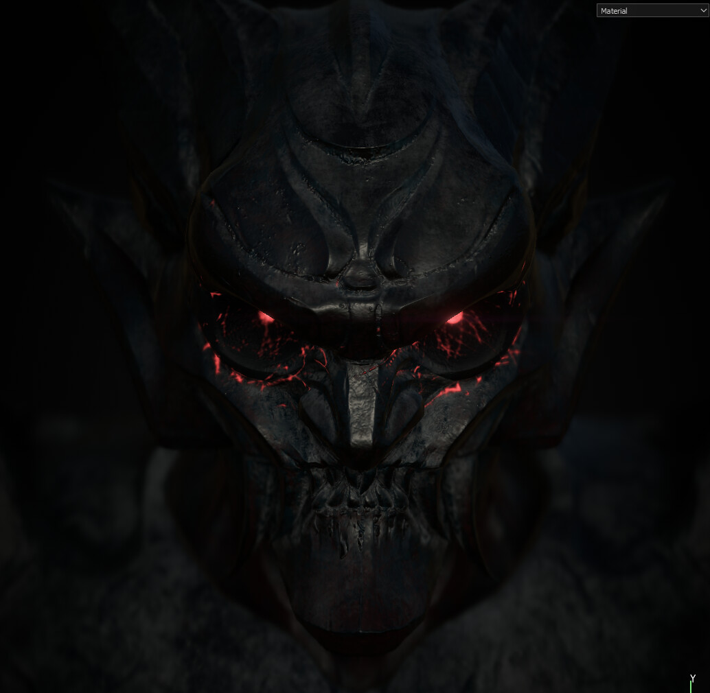 First pass of the Demon Textures + Alternative Emissive Eyes