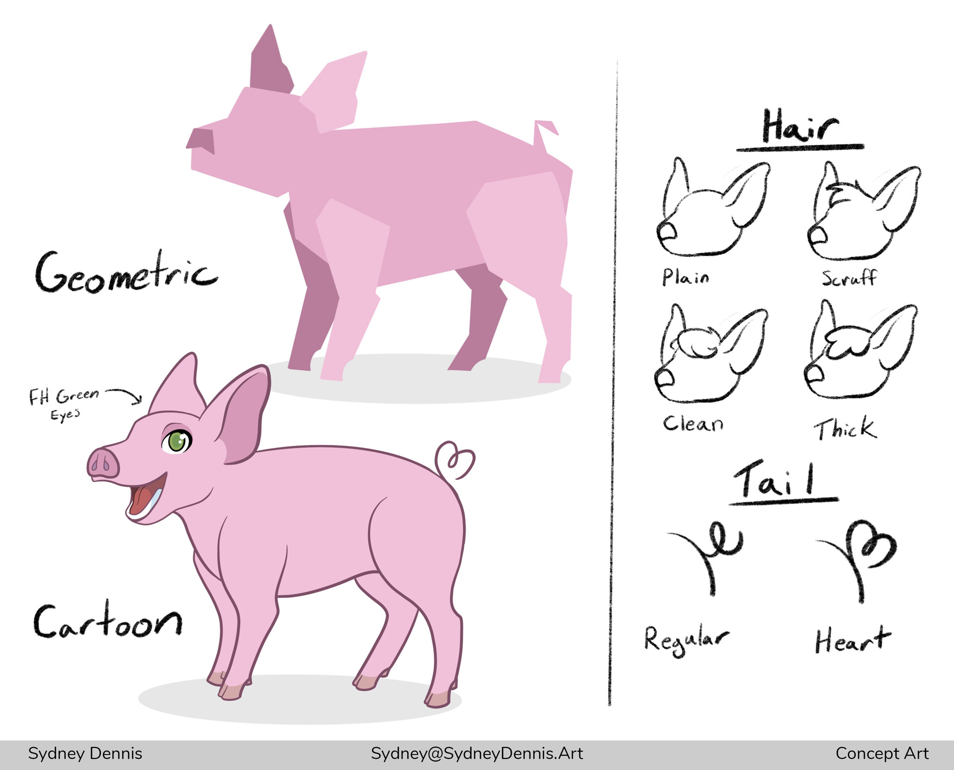 Concept Art. Creating a cartoon rendition of the FH mascot.