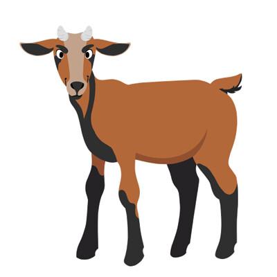 Sydney dennis fh stickers gift catalog goat fullbody