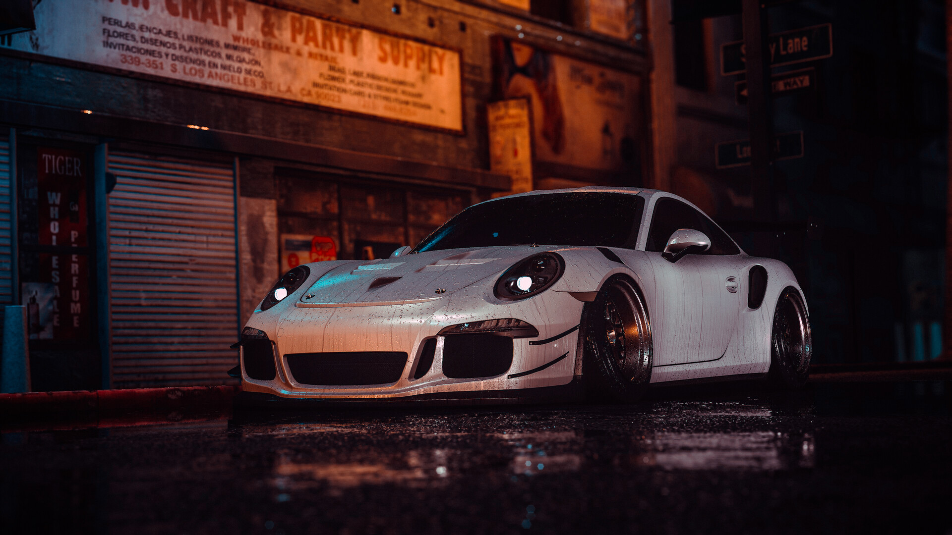 Artstation Porsche 911 Gt3 Rs Slammed 86