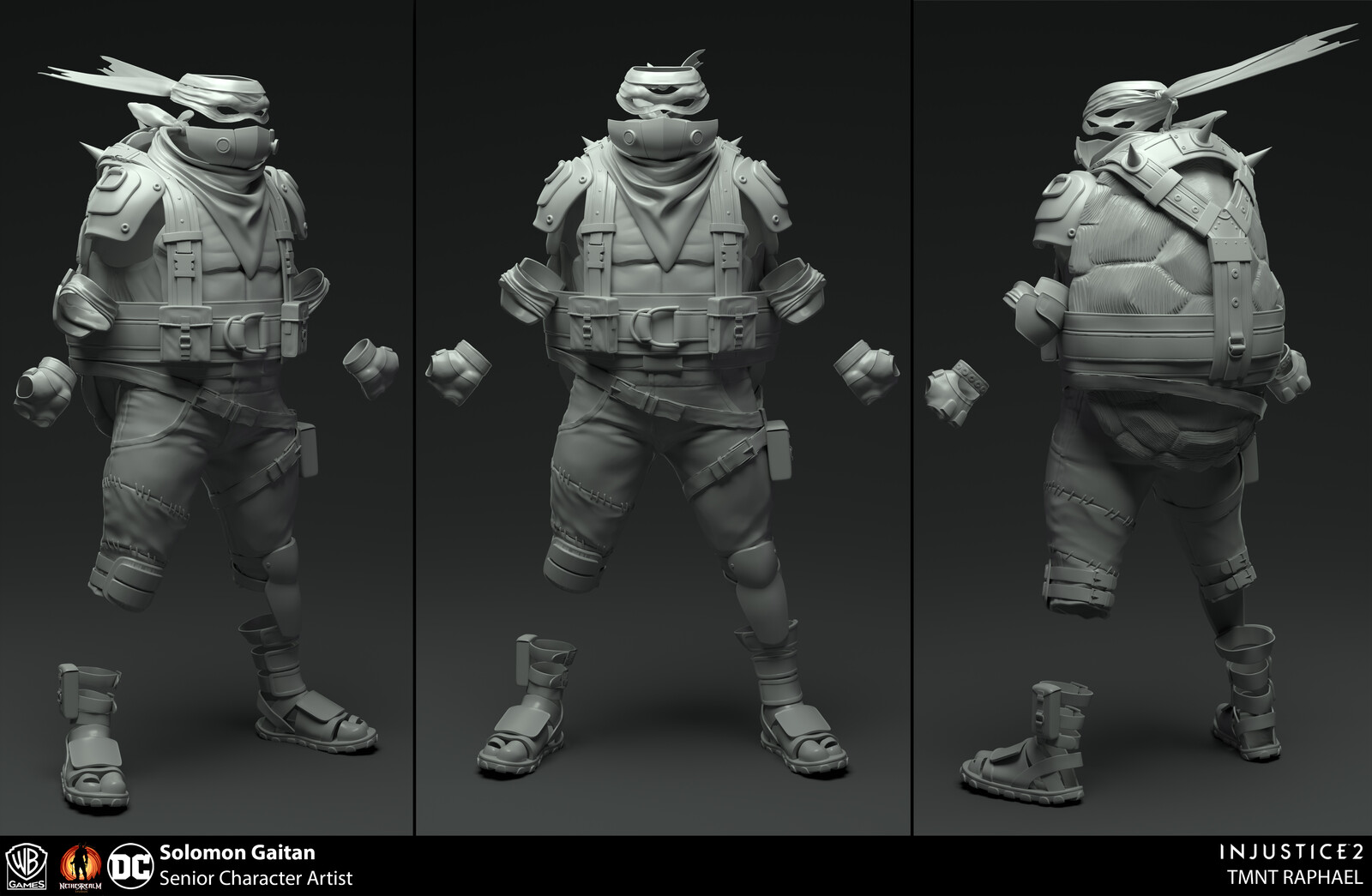 Sculpts for injustice 2.  Gear sculpted by me