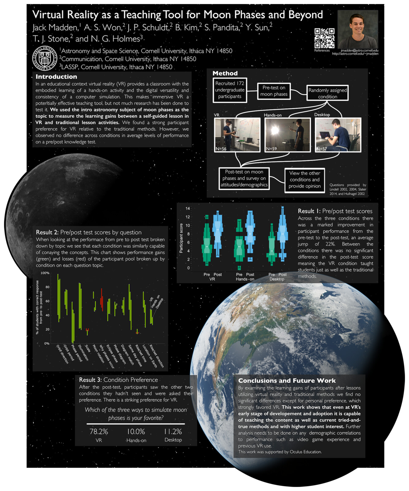 [Poster] Virtual Reality as a Teaching Tool for Moon Phases and Beyond
