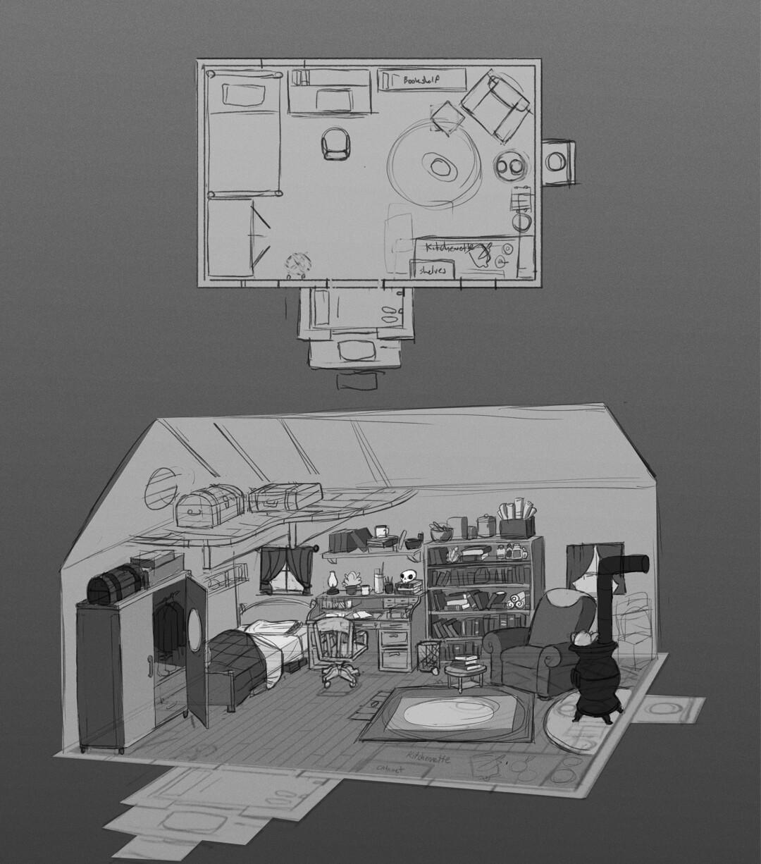 Day 6 - Cottage interior