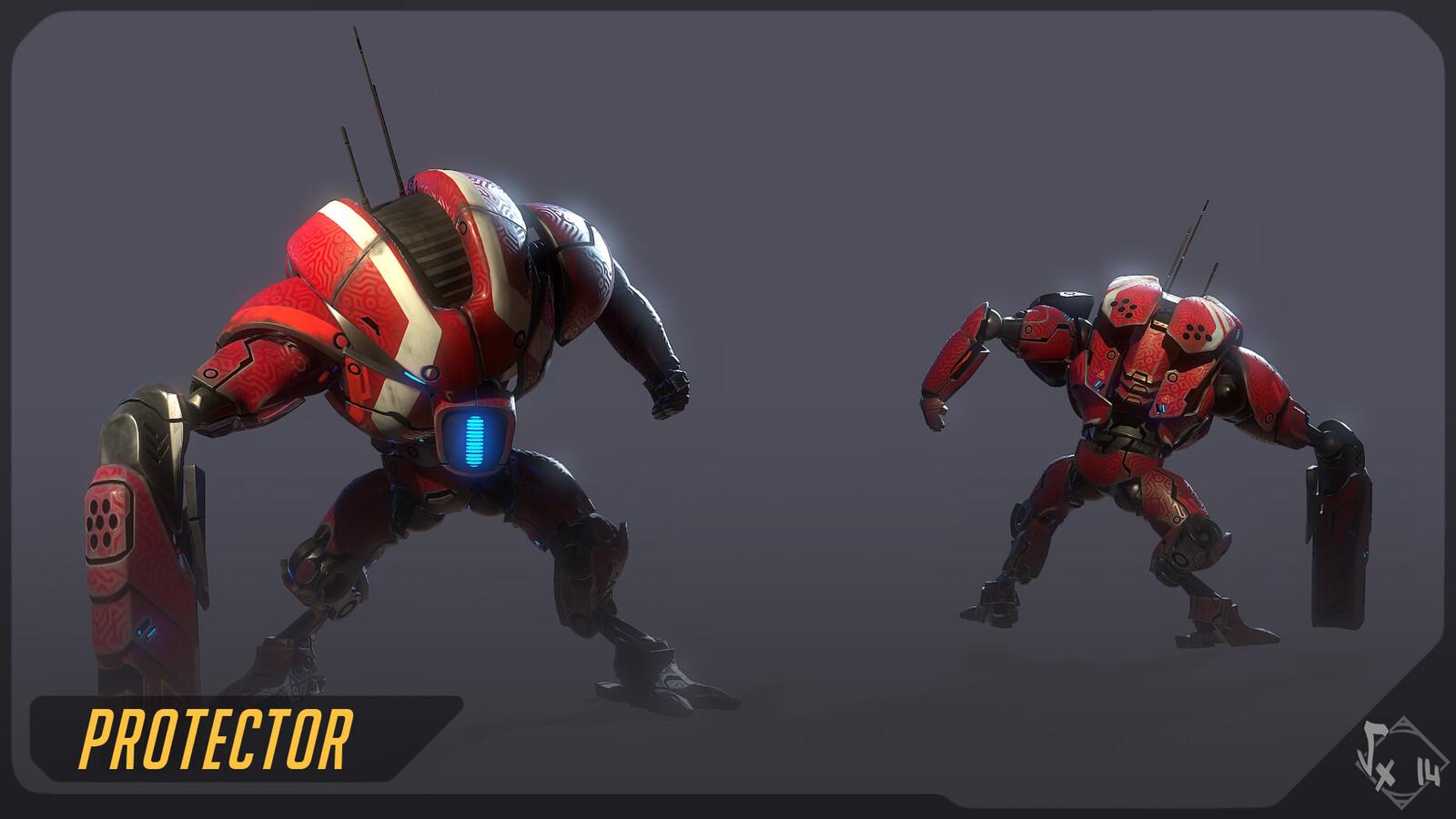Shocker 204 Skin Protector. You can buy the full character + skin + anim samples here : https://www.artstation.com/vexod14/store/b2Yw/shocker-204