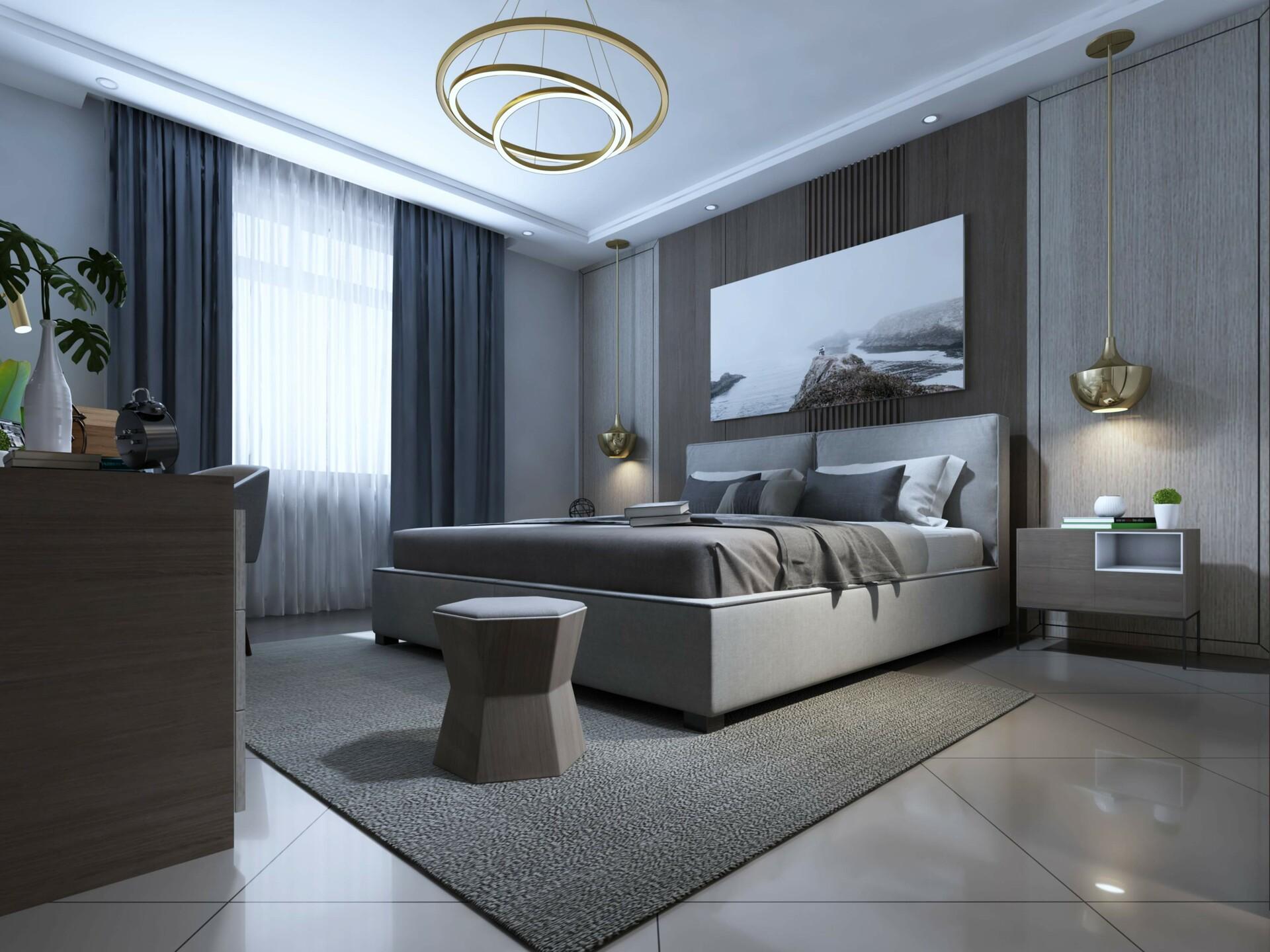 ArtStation - Modern Bedroom, RenderHub 3D Models