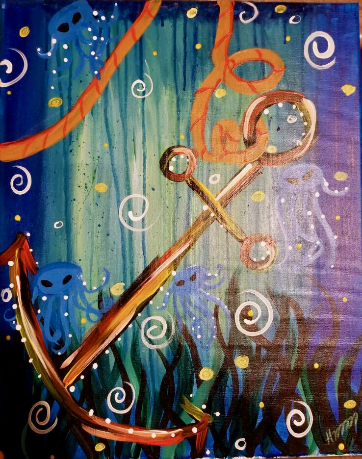 Anchor in the sea!
