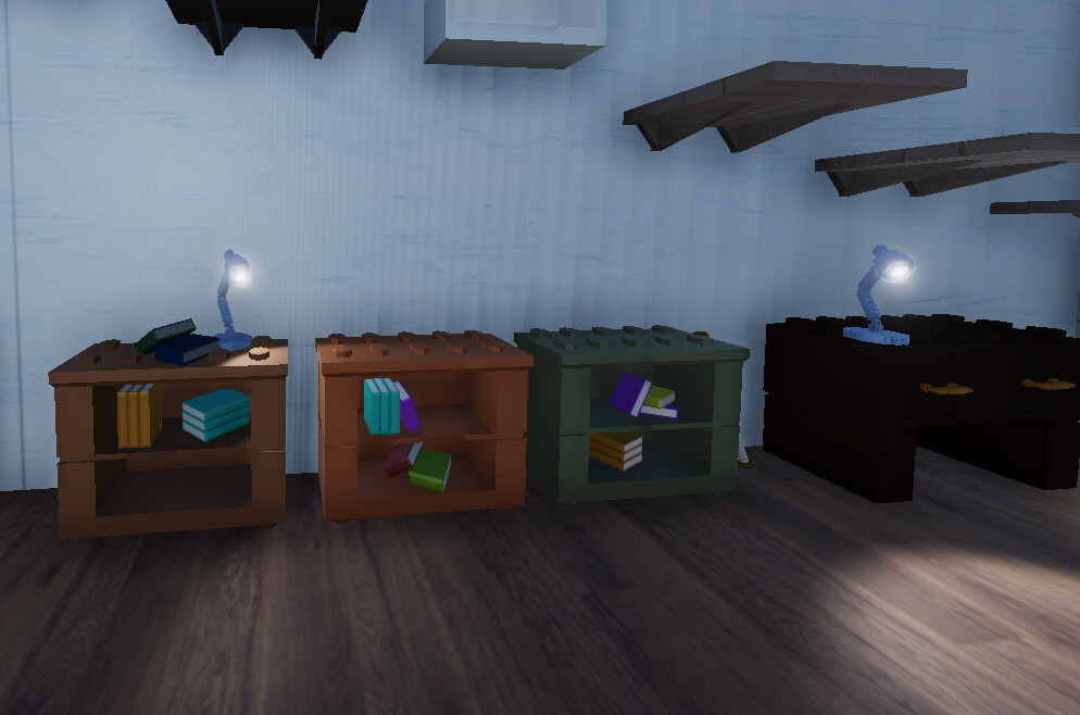 I modeled and textured both of the lamps in this image. I also created the lighting.