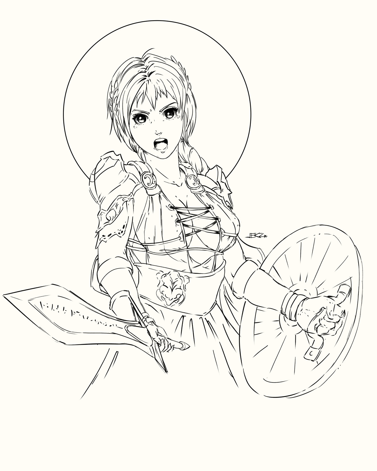 Inktober 2019 (Day 06/31) - Sophitia of Soulcalibur Video Game, this one is really challenging. lol