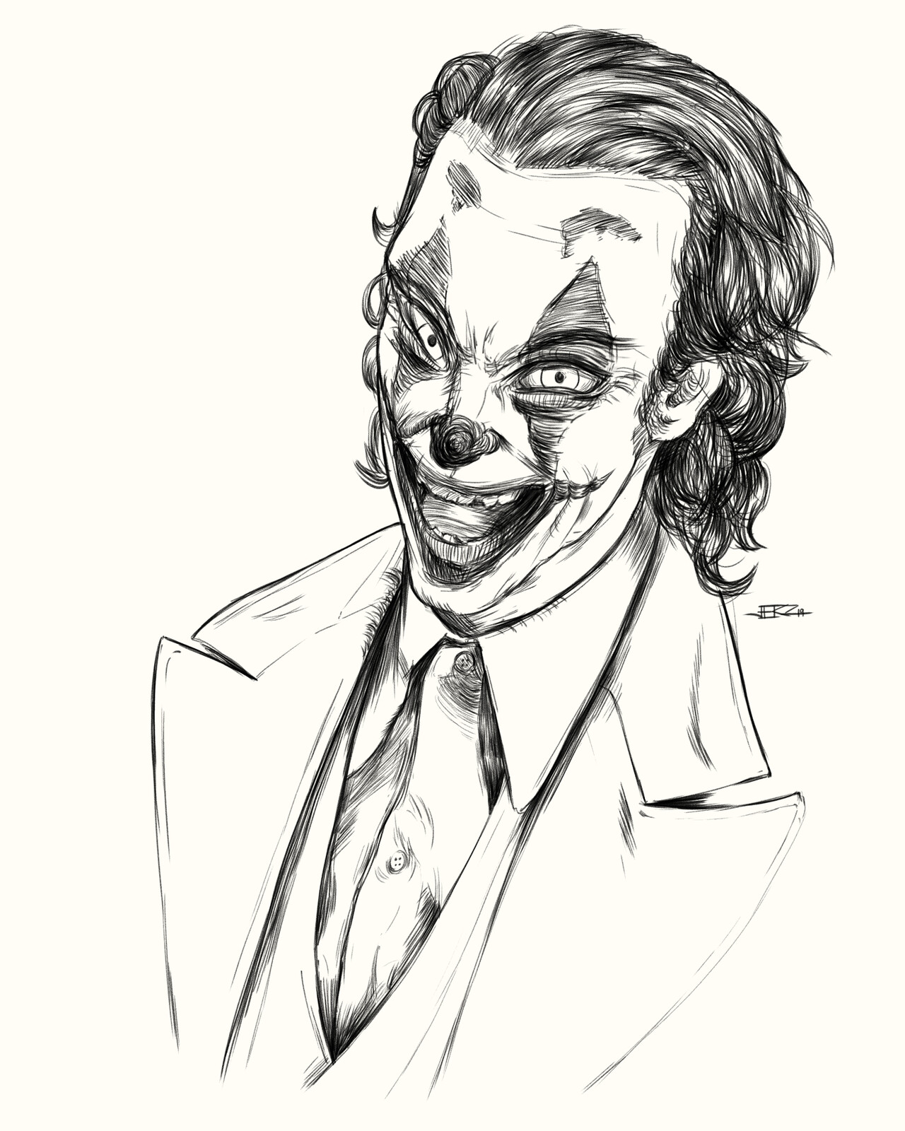 Inktober 2019 (Day 04/31) - Joker of DC Comics