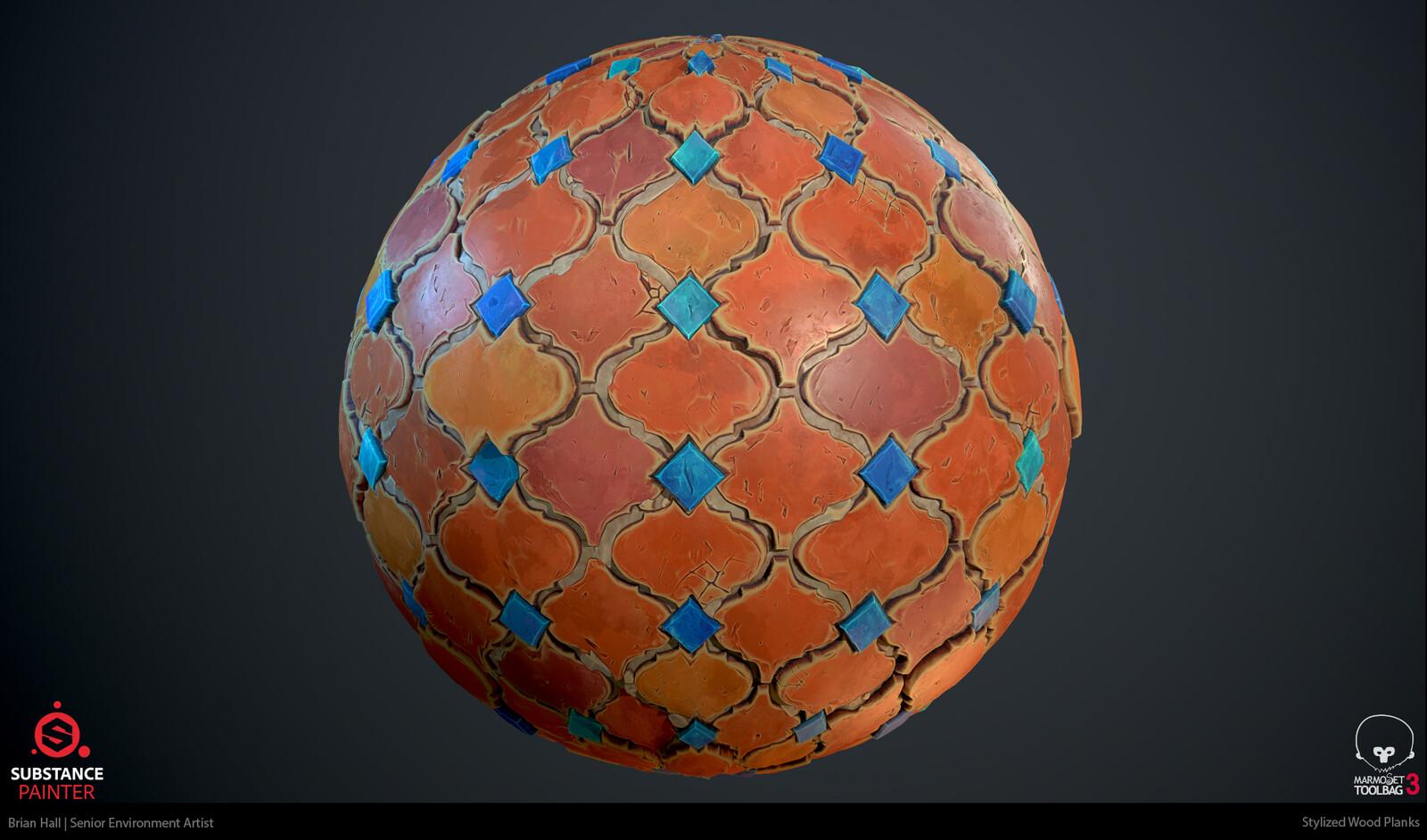 Stylized PBR Terracotta Tiles