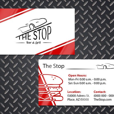 Sydney dennis the stop business card mock up