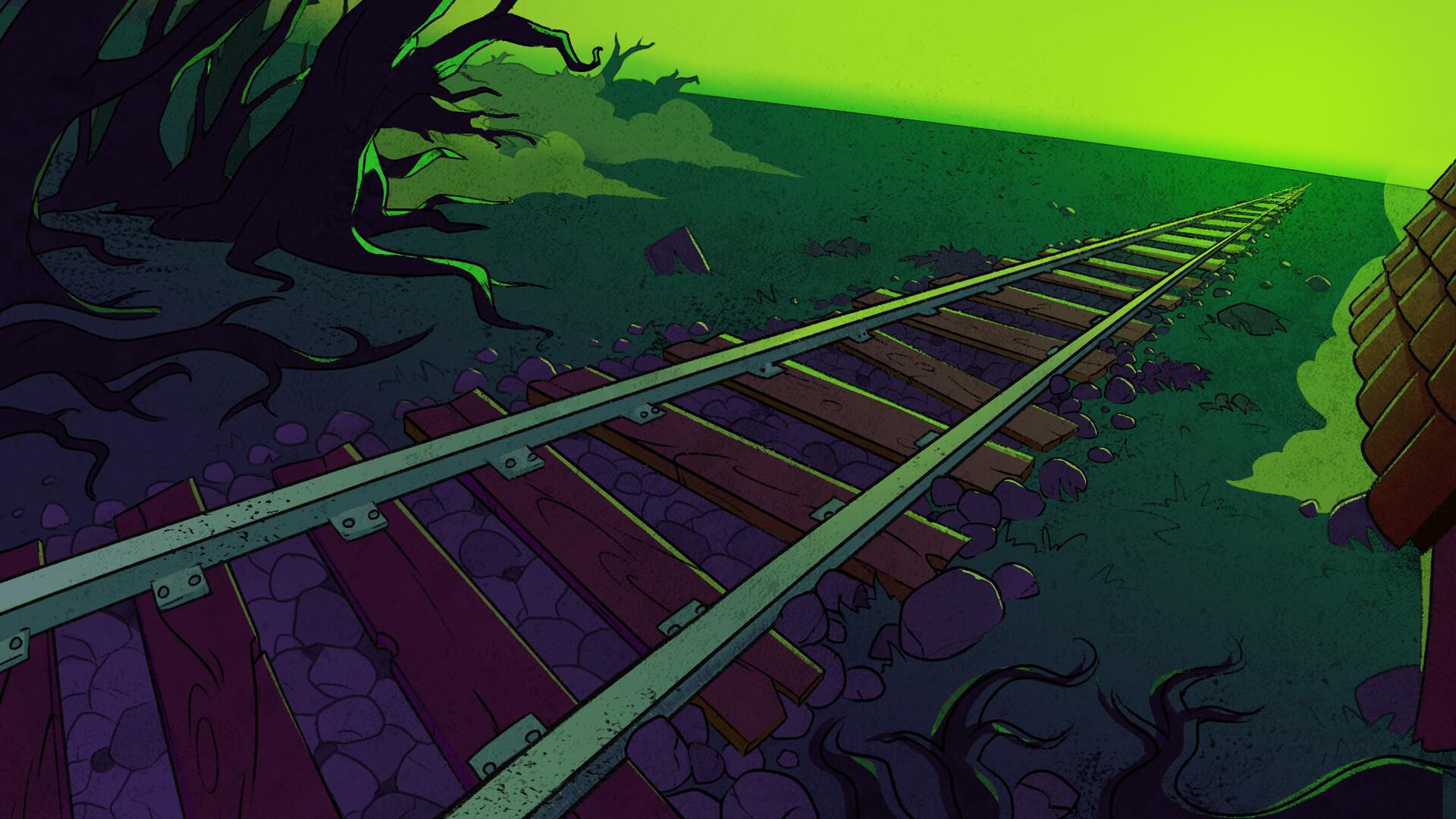 """decor pour le clip """" Le train Fantome """" D'Ultra Vomit"""