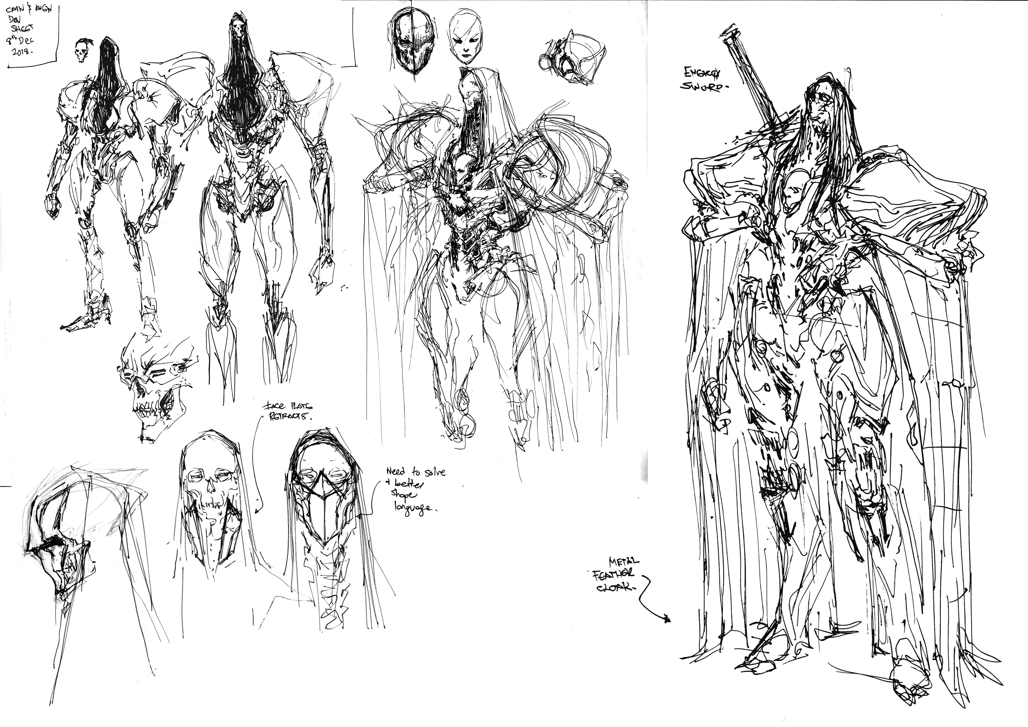 Early compilation of sketches and brainstorming i did