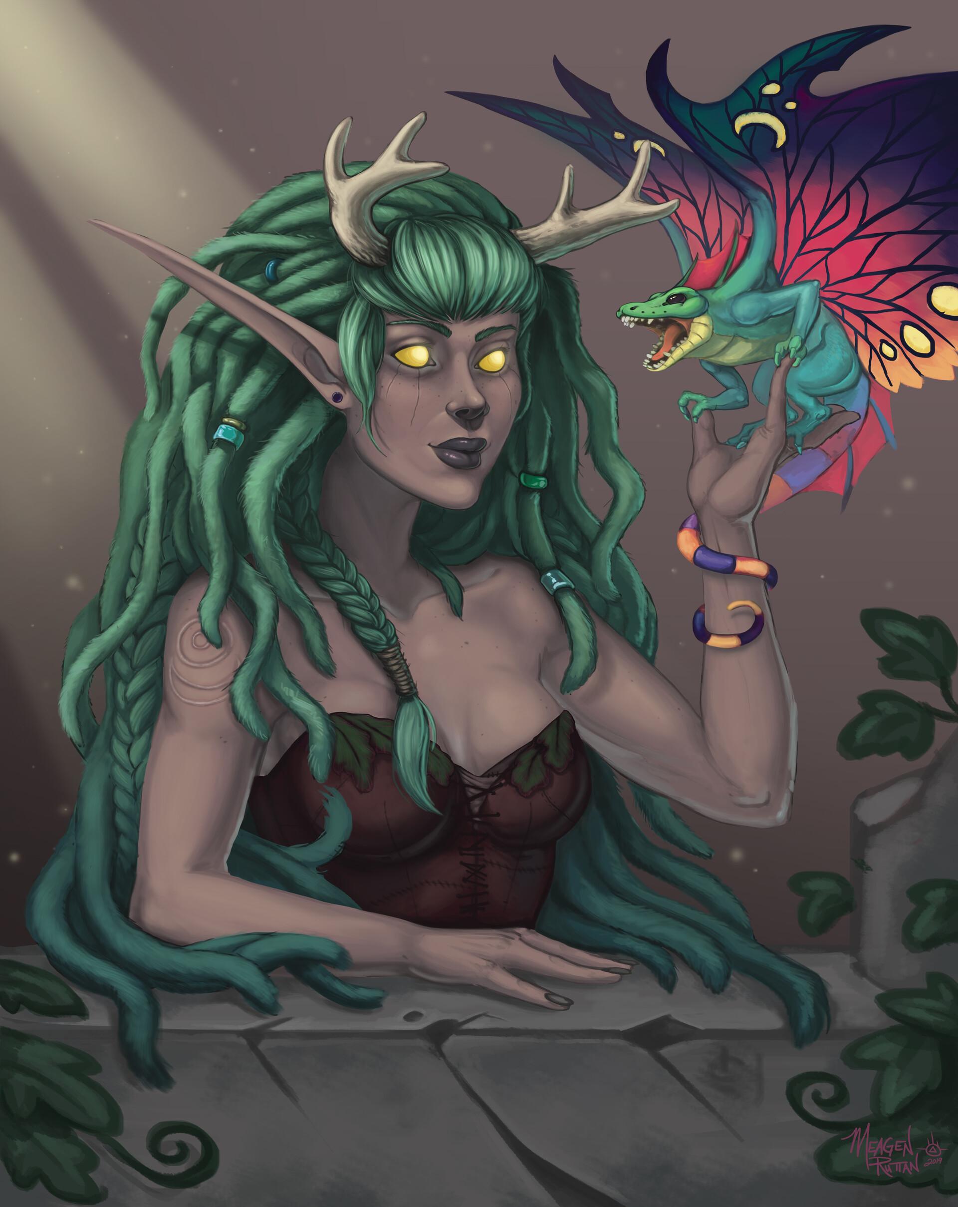 Meagen ruttan hippy druid bust 10