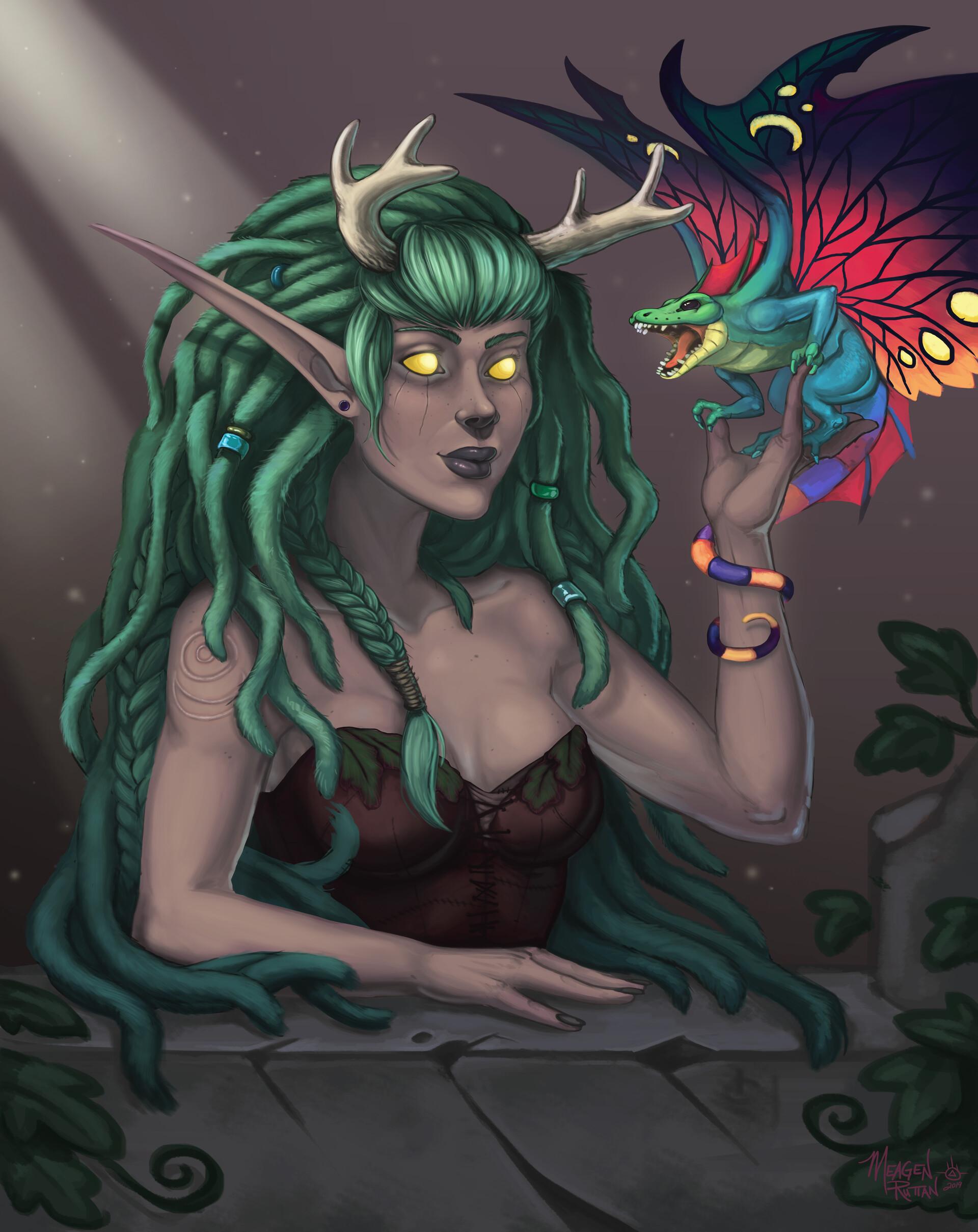 Meagen ruttan hippy druid bust 13