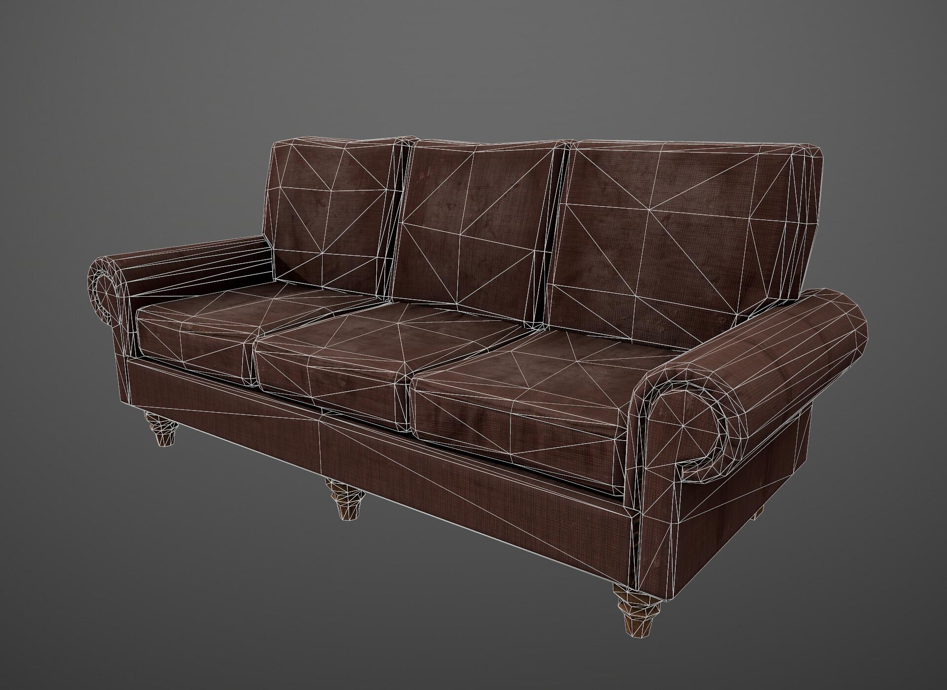 1746 tris for the sofa