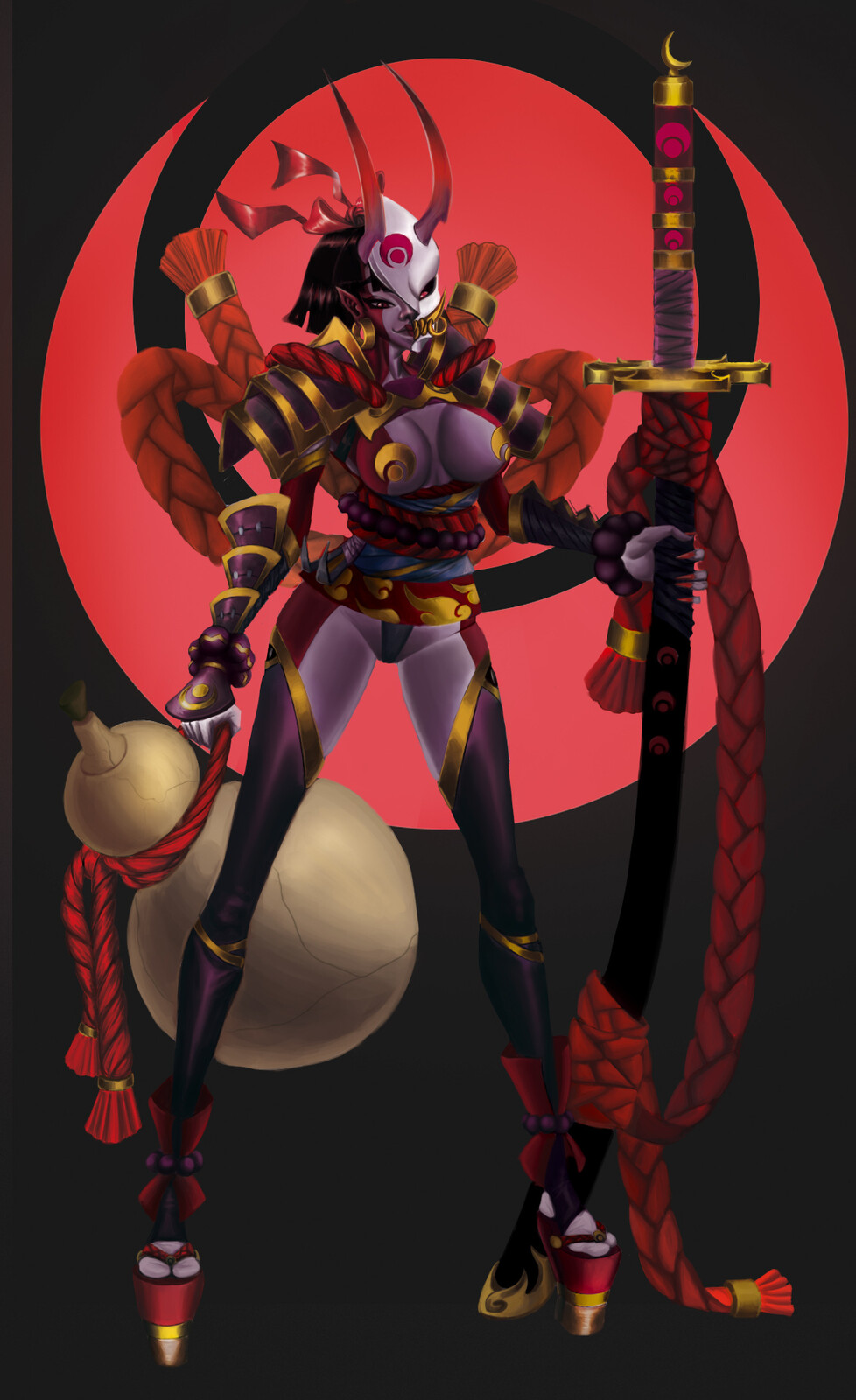"""Blood moon Oni """