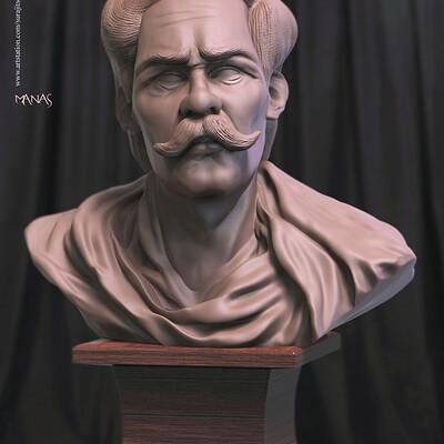 Surajit sen manas digital sculpture surajitsen nov2019