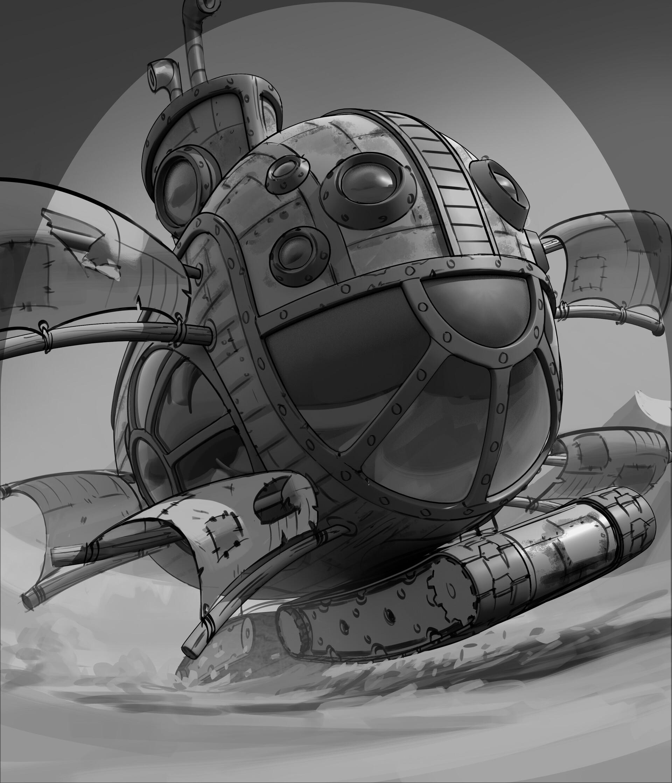Phil saunders hs17 353 mac diver sketch