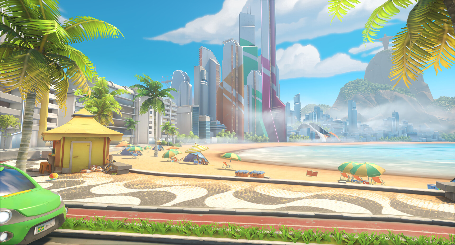 Helder pinto ow2 blizzcon 2019 screenshot maps rio pvp beach
