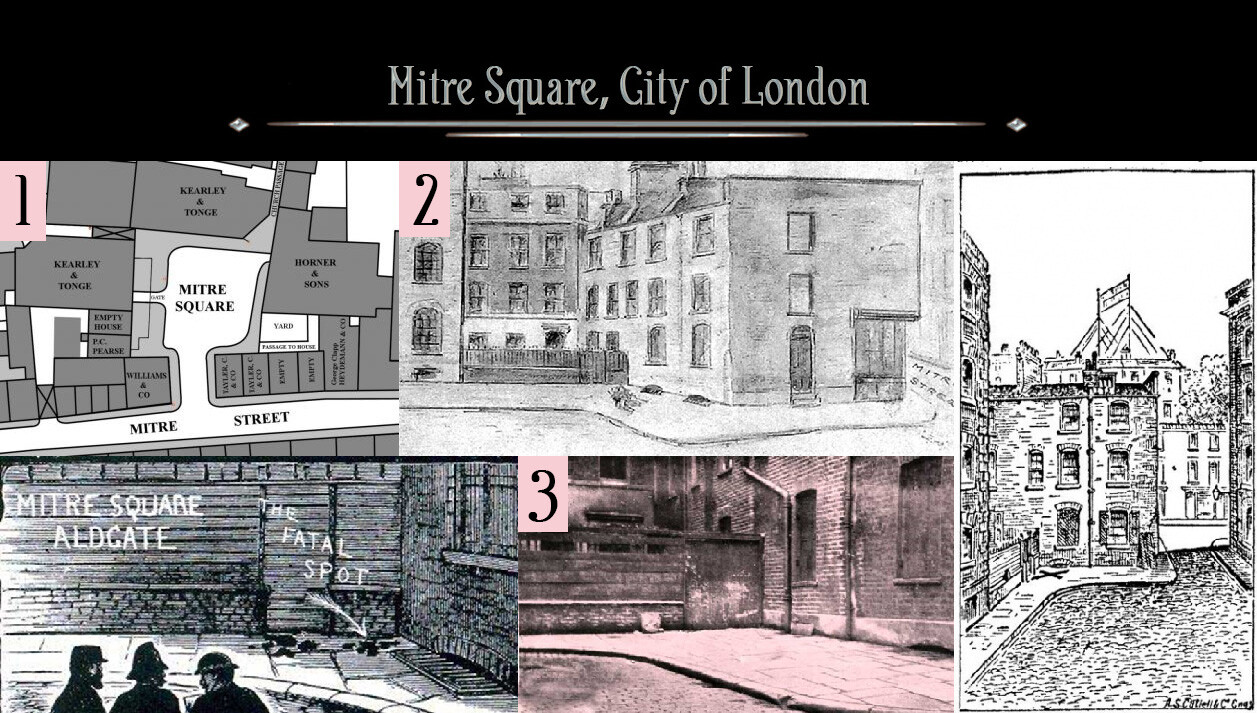 Mitre Square is the location where the body of Catherine Eddowes was found. 