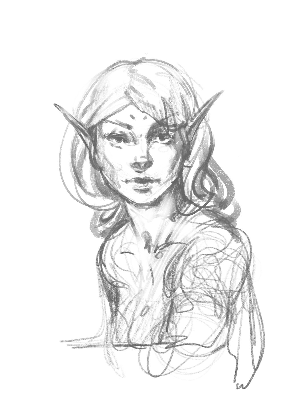Dark Elf - Sketch