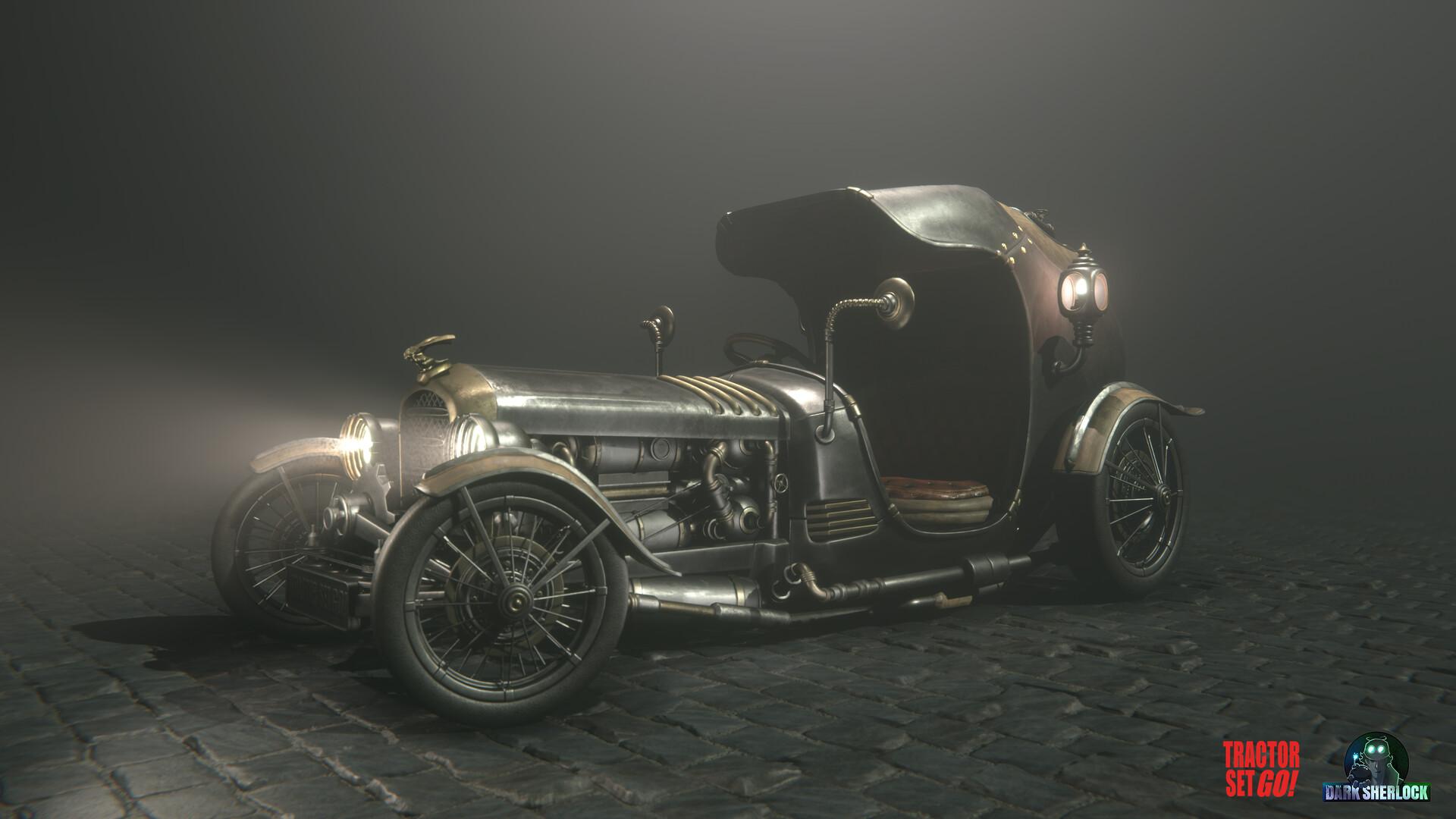 Artstation Steampunk Car Marton Attila