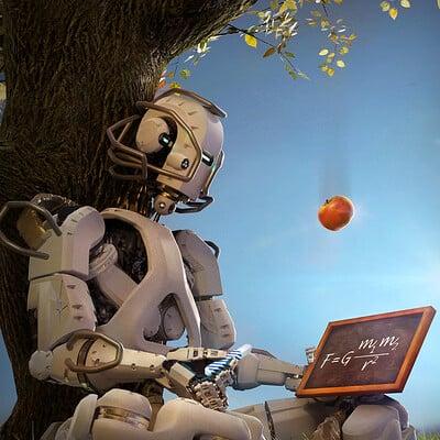 Francis goeltner robotics ai pyhsics white m sig