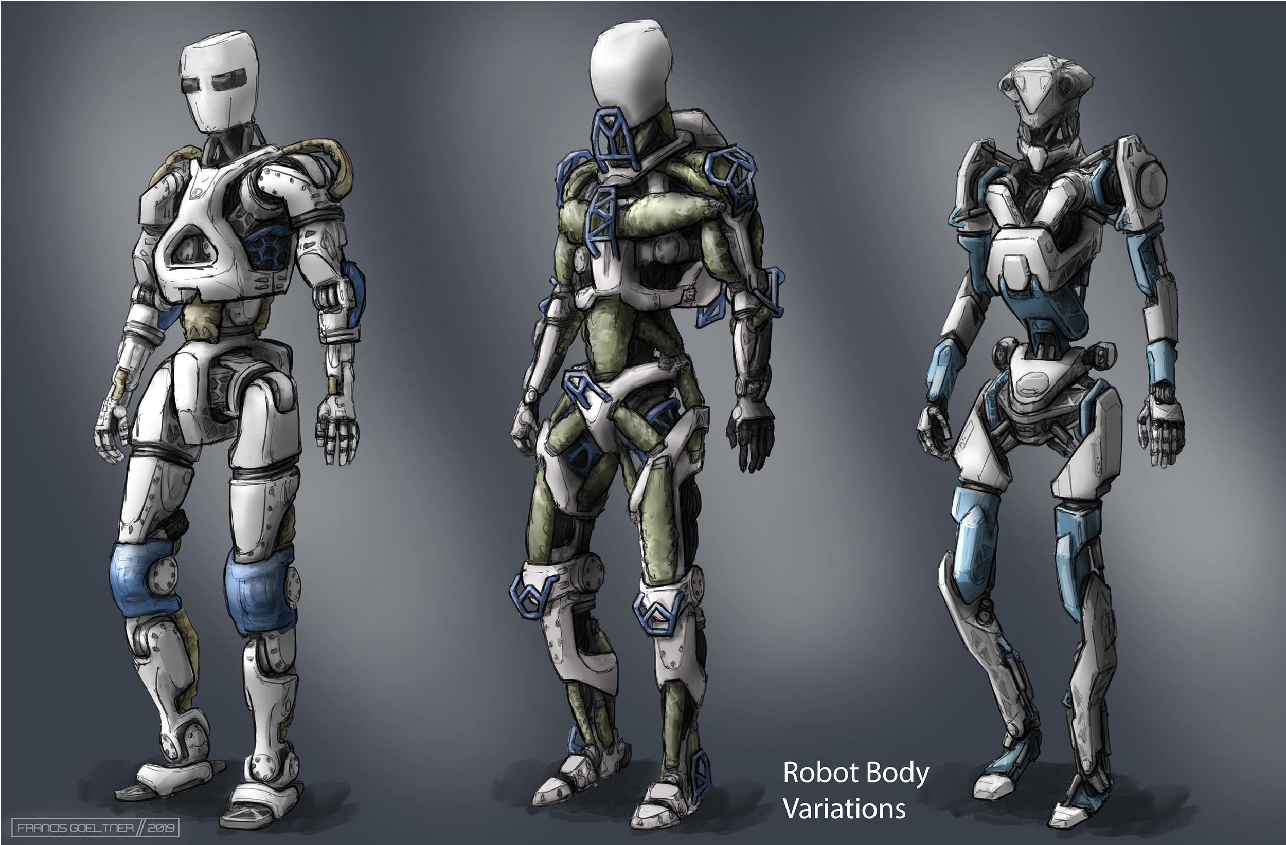 Sketches of body designs