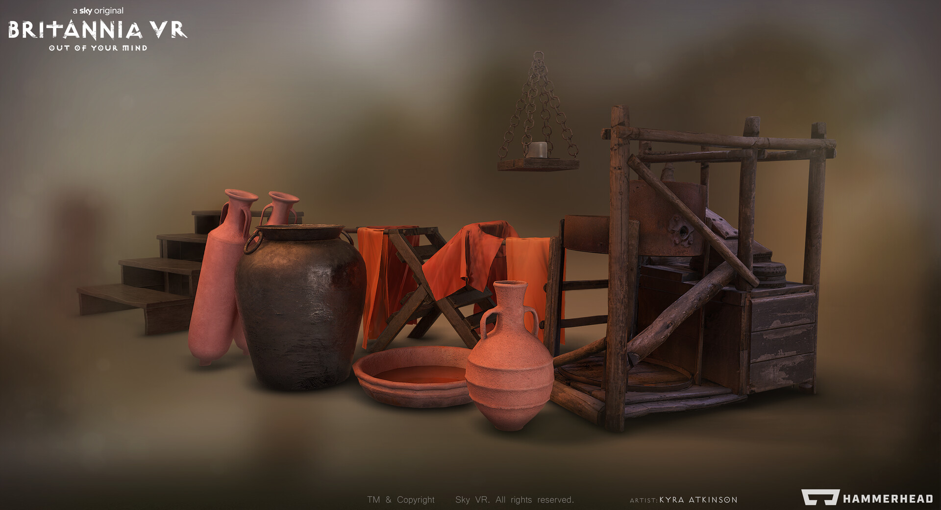 Some photogrammetry and traditional generic props from the Roman Oppida