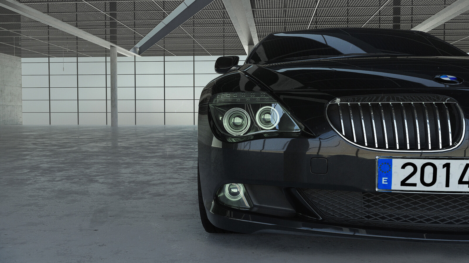 BMW car model perspective