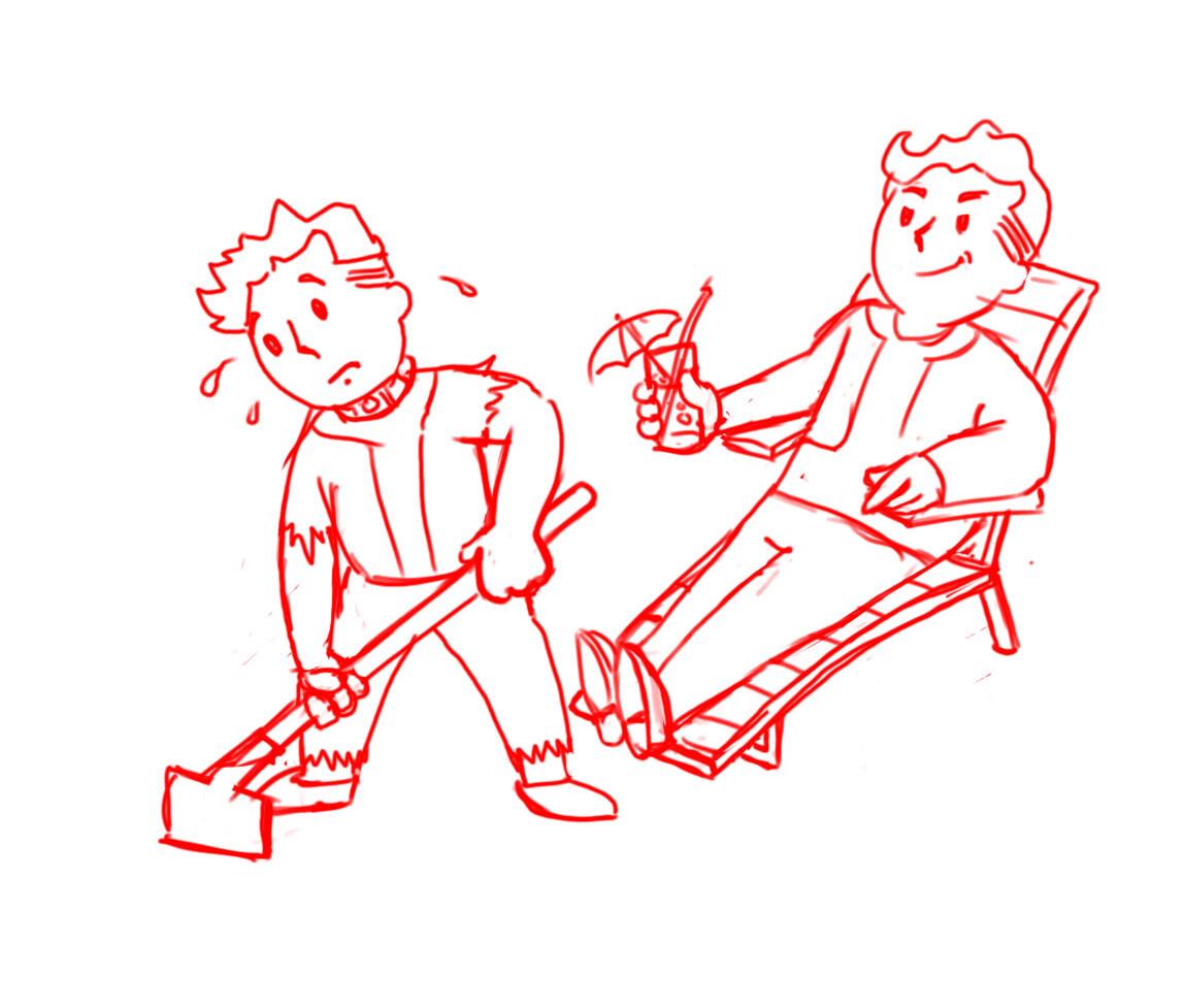 Pipboy Slaver Sketch