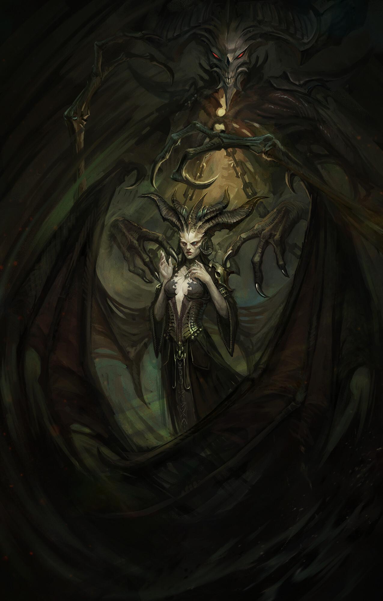 ArtStation , Lilith , Diablo 4 (Fan Art), Klaher Baklaher